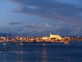 Palma Mallorca-Kathedrale-Nacht