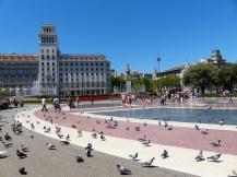 Barcelona-Placa_de_Catalunya-Tauben-2