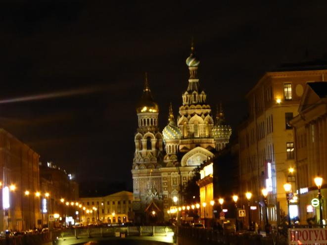 Blutkirche bei Nacht
