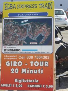Elba-Portoferraio-Bimmelbahn-Route