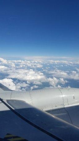 Flugzeug-Ausblick-Wolken