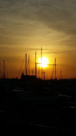 Mallorca-Palma-Hafen-Kathedrale-Sonnenaufgang-1