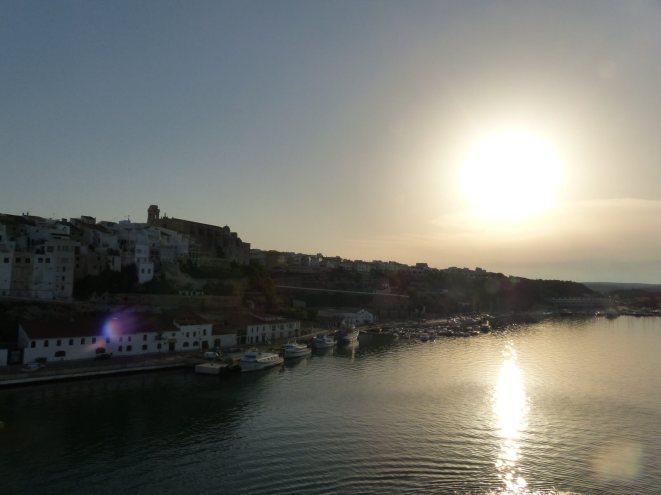 Menorca-Mahon-Hafen-Sonnenuntergang-1