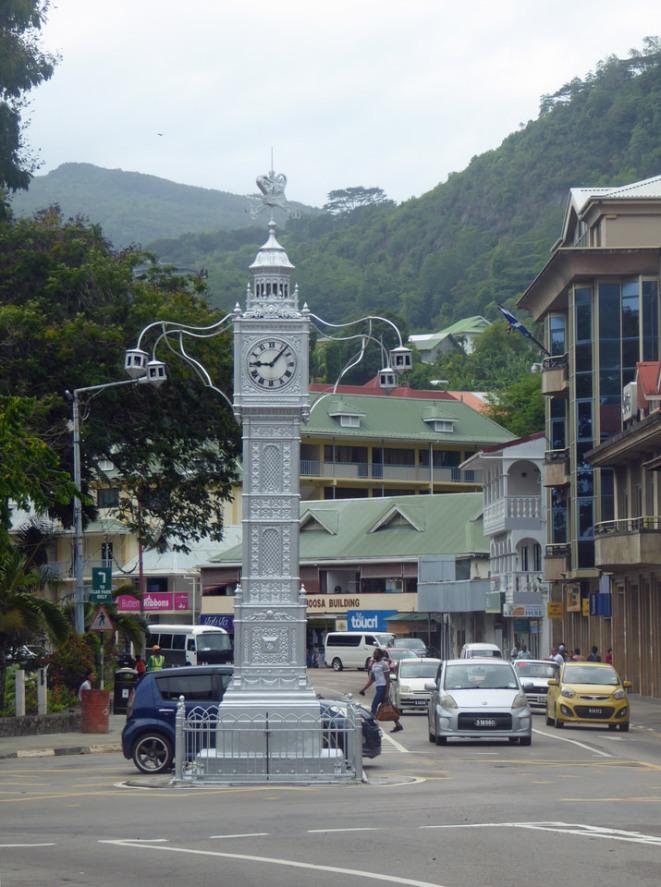 Mahé - Uhrenturm in Port Victoria