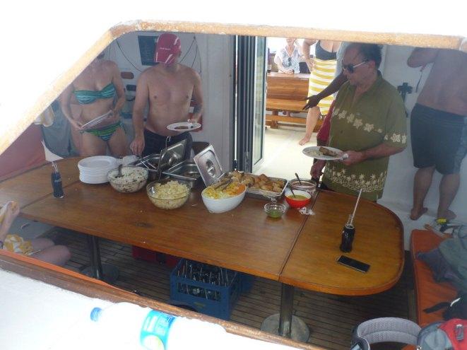 Mauritius-Katamaran_Tour-Westkueste-Mittagessen-1
