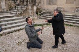 Dubrovnik-Altstadt-Game_of_Thrones_Tour-Schwertkampf-wir-6