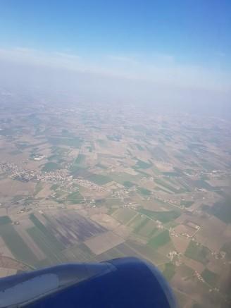 Flugzeug-Ausblick-Gelaende