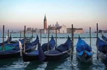 Venedig-Gondeln-San_Giorgio-Abenddaemmerung-1