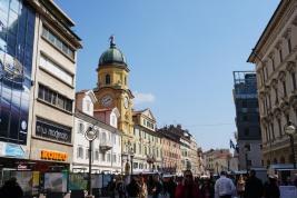 Kroatien-Rijeka-Altstadt-Korzo-Stadtturm-2