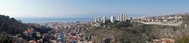 Kroatien-Rijeka-Trsat-Ausblick-Panorama-1