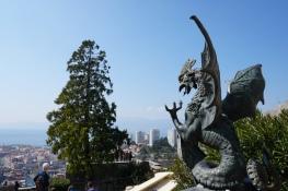 Kroatien-Rijeka-Trsat-Festung_Trsat-Ausblick-Statue_Drache-4