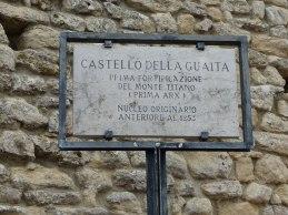 San_Marino-Castello_della_Guaita-La_Rocca-Eingangsschild-1