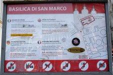 Venedig-Basilica_di_San_Marco-Hinweisschild-1