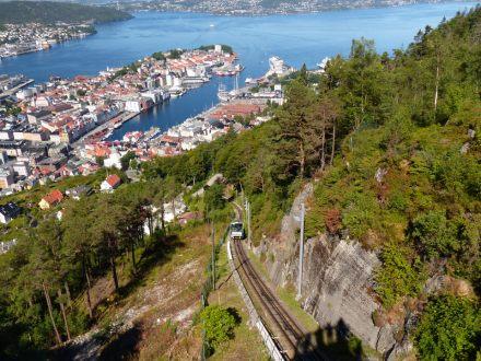 Bergen-Floibahn-Gleise-Aussicht-4