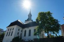 Bergen-Kirche-Sonne-1