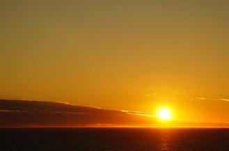 Bergen-Sonnenuntergang-orange-2