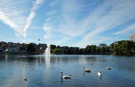 Norwegen-Stavanger-Stadtpark-See-7