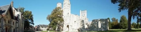 Normandie-Abtei_Jumieges-Gesamtansicht-Panorama-4