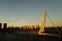 Rotterdam-Skyline-Erasmusbruecke-am_Abend-3