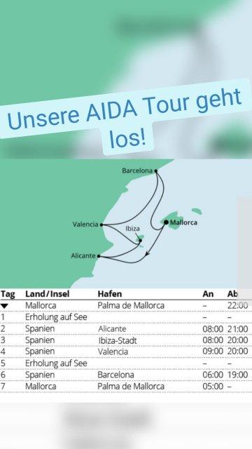 Unsere AIDA Tour geht los!